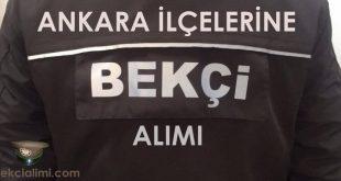 Ankara bekçi alımı