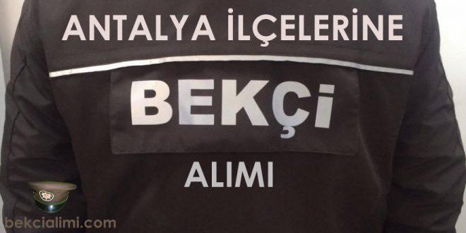 Antalya Bekçi Alımı