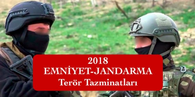 2018 emniyet jandarma teror tazminati