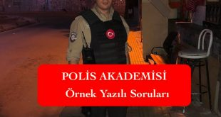 polis akademisi bekci ornek yazili sorulari