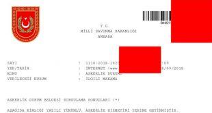 askerlik durum belgesi ilişiği resmi evrağı