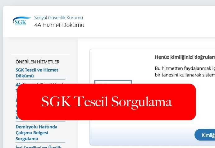 SGK Tescil Sorgulama
