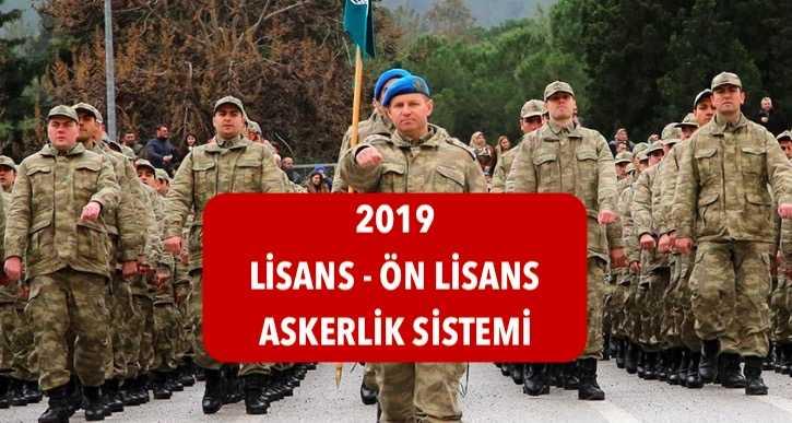 2019 lisans onlisans askerlik