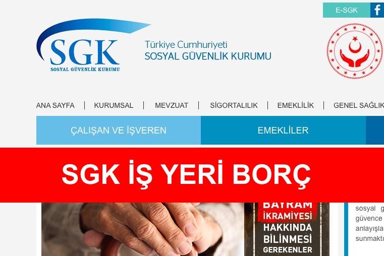 SGK İşyeri Borç Sorgulama