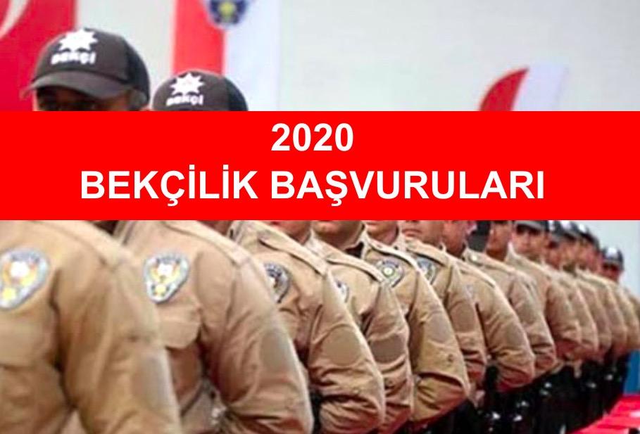 2020 Yılında Bekçilik Başvurusu