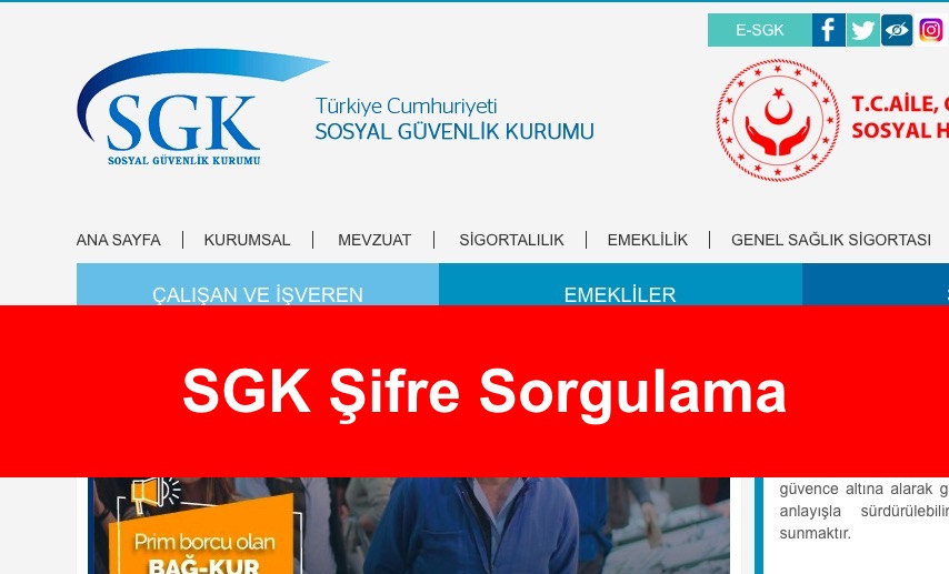 SGK Şifre Sorgulama