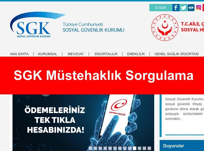 SGK Müstehaklık Sorgulama