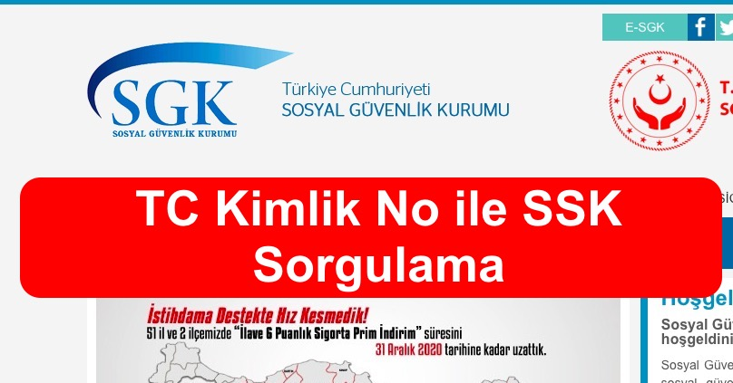 TC Kimlik No ile SSK Sorgulama