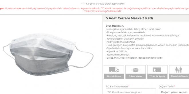 cretsiz maske başvuru formu