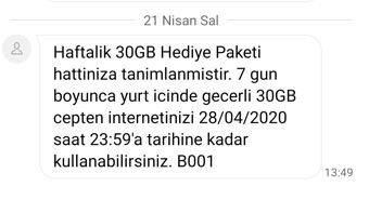 30 gb internet türktelekom