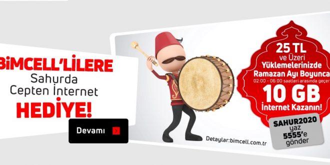 Bimcell 2020 Ramazanda Bedava İnternet
