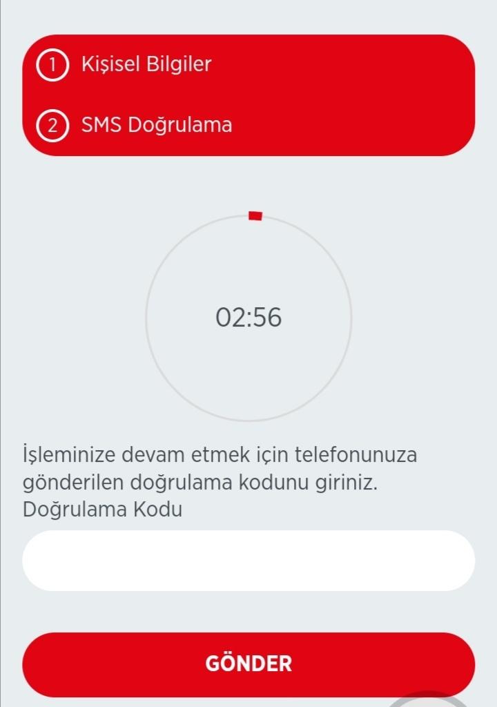 SMS onay ziraat