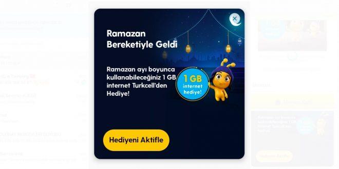 Turkcell Ramazan 1 GB Hediye Kampanyası