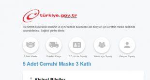 e devlet maske başvuru