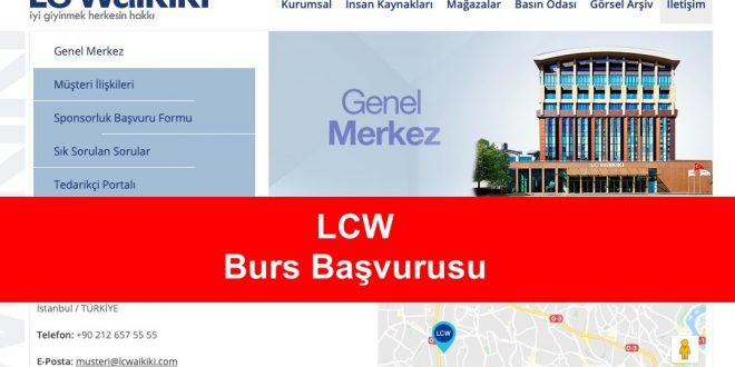lcw burs başvurusu
