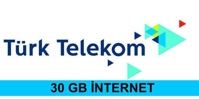 türk telekom 30gb bedava internet