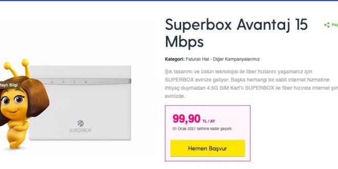 turkcell superbox sinirsiz internet
