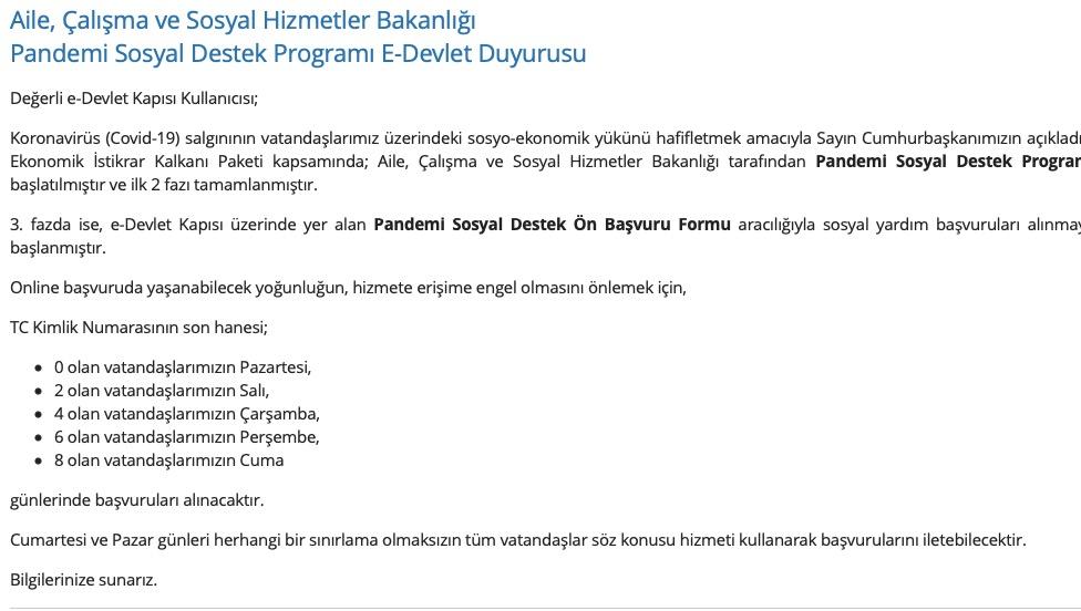 turkiye gov.tr yardımı
