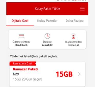 vodafone 2020 ramazan paket