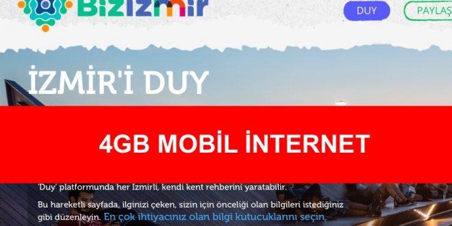 4gb internet izmir