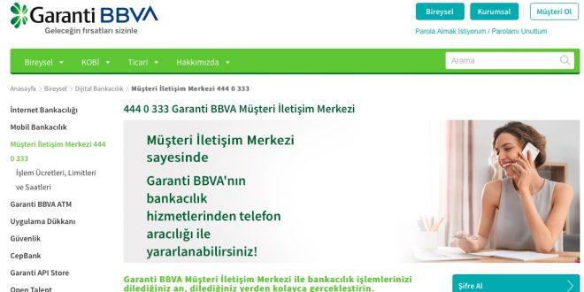 Garanti BBVA Müşteri Temsilcisi Direk Bağlanma