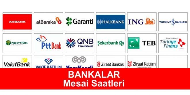 Banka Mesai Saatleri