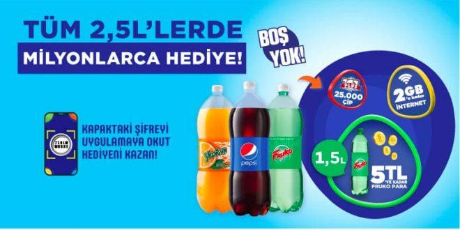 Pepsi 1L Petler Bedava İnternet