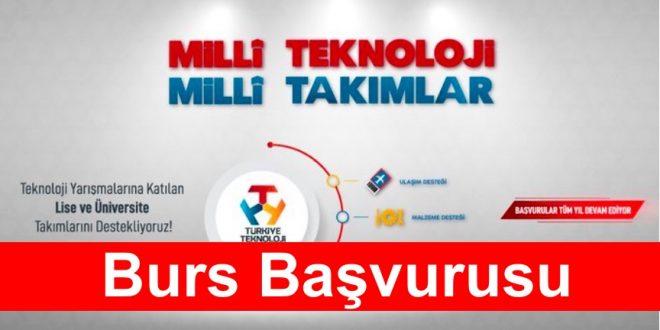 Türkiye Teknoloji Takımı Milli Teknoloji Burs Başvurusu