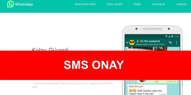 WhatsApp Sms Onay