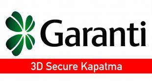3D Secure Kapatma Garanti 2