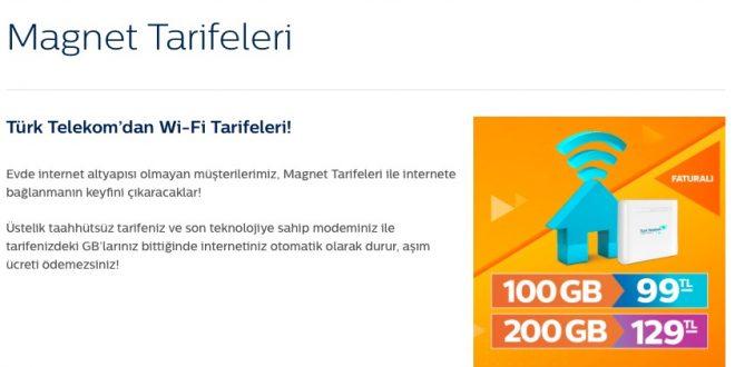 Türk Telekom Magnet Tarifeleri