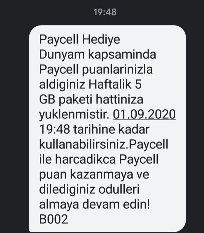 paycell 5gb