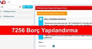 7256 Borc Yapilandirma