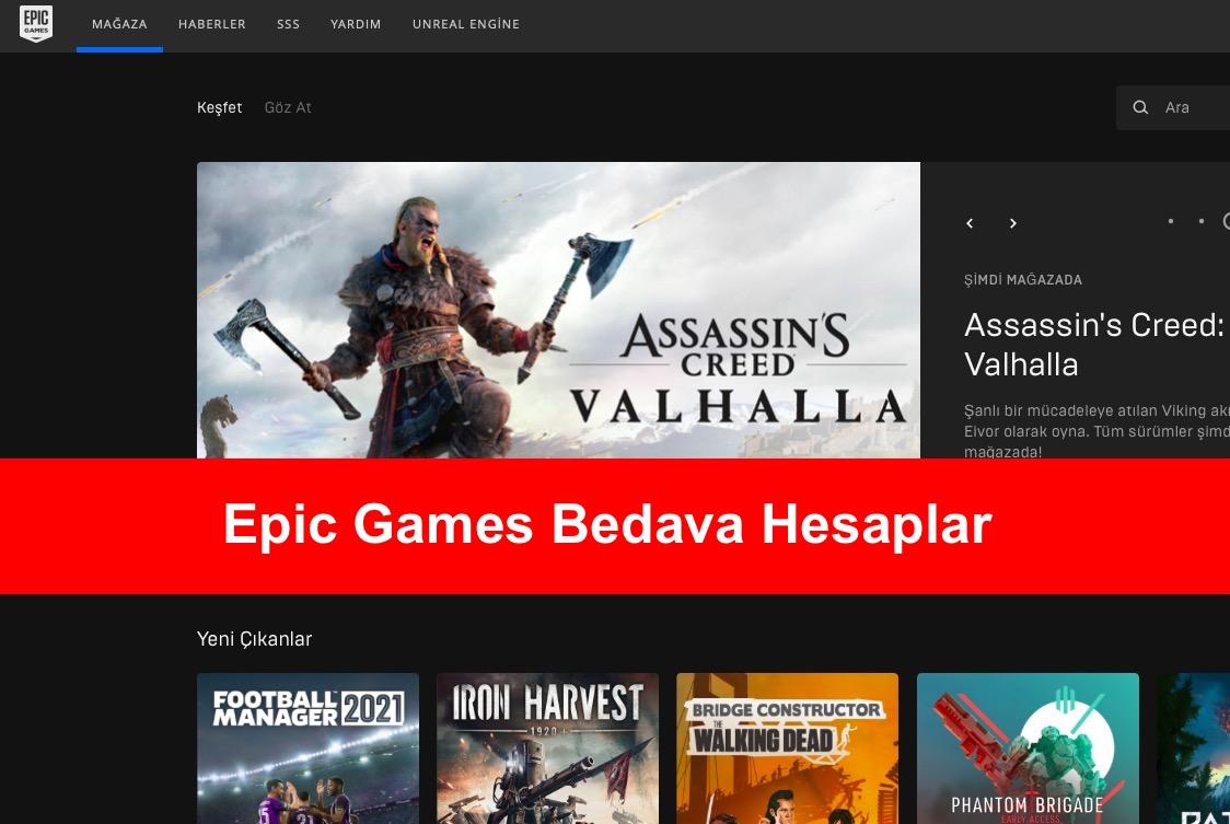 Epic Games Bedava Hesaplar