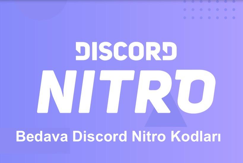 Bedava Discord Nitro Kodlari