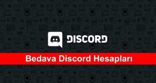 Bedava Discord Hesaplari