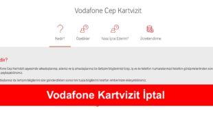 Vodafone Kartvizit Iptal